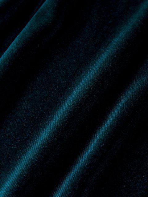 Abito Aderente in Velluto con Spalle Scoperte - Verde intenso S Mobile