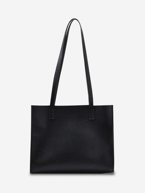 online Minimalist Square Shoulder Bag - BLACK  Mobile