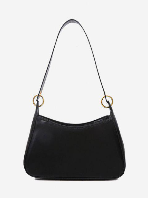 hot Minimalist O Ring Shoulder Bag - BLACK  Mobile