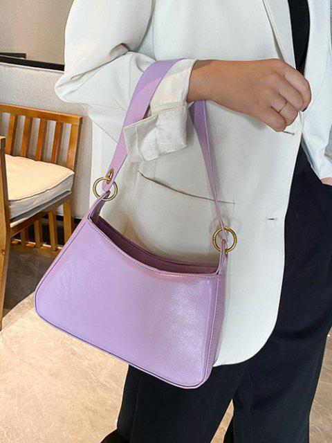outfits Minimalist O Ring Shoulder Bag - MAUVE  Mobile