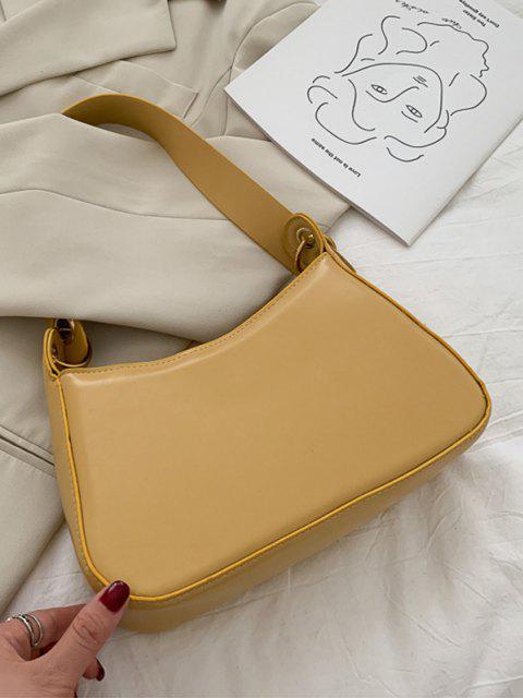 shop Minimalist O Ring Shoulder Bag - BEE YELLOW  Mobile