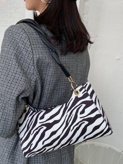 Bolsa de Ombro e estampa de zebra - Preto  Mobile