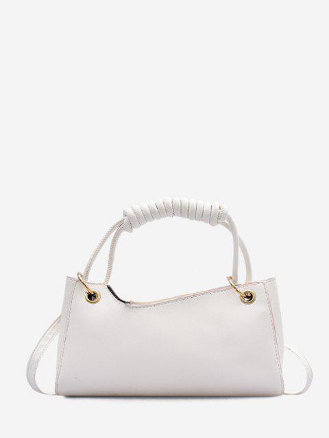 unique Solid Wrap Handle Handbag - CRYSTAL CREAM  Mobile