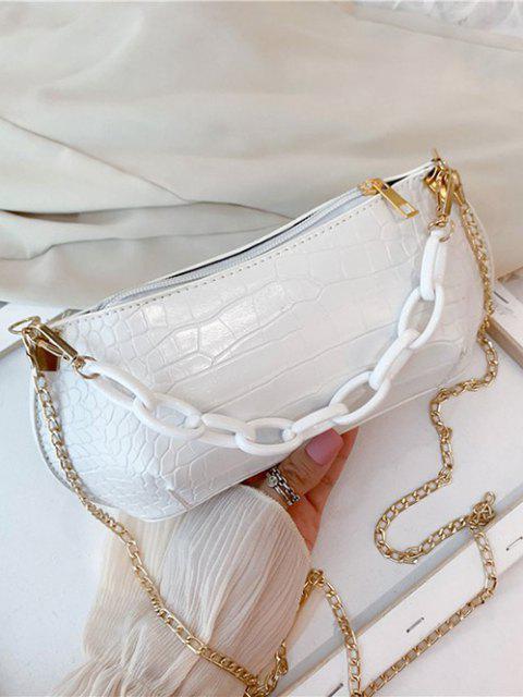 Bolsa de mão com couro texturizado - Creme De Cristal  Mobile