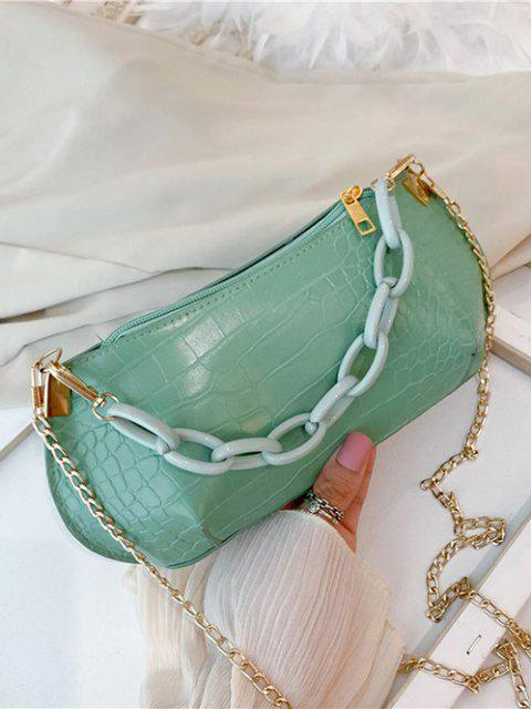women Textured Chains Handbag - ALGAE GREEN  Mobile