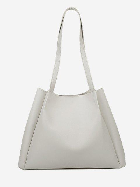 buy Minimalistic Double Strap Shoulder Bag with Inner Pouch - CRYSTAL CREAM  Mobile