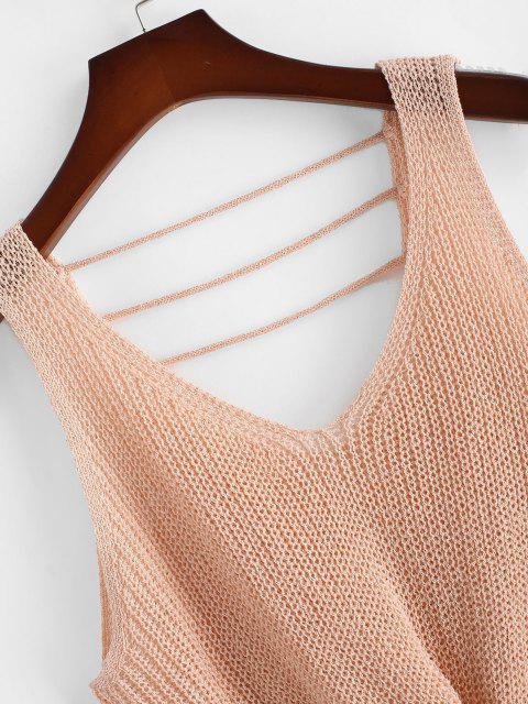 ZAFUL Camisola de Colete de Tamanho Grande com Tiras - Luz rosa 2XL Mobile
