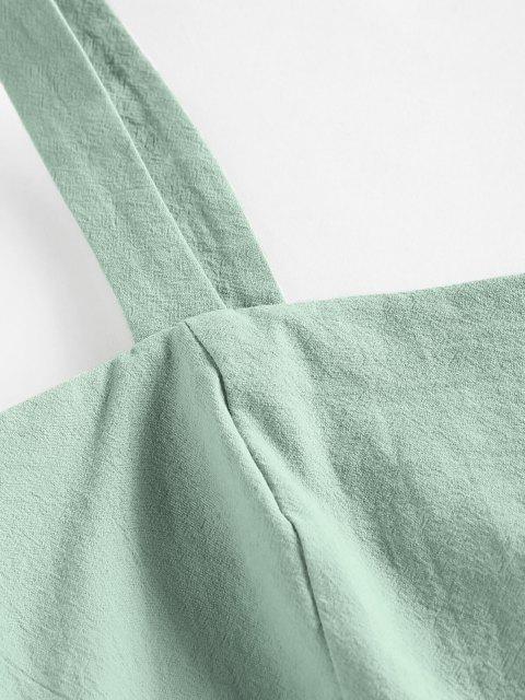 ZAFUL Ausgefranster Reißverschluss Shorts mit Überlappung Set - Hellgrün M Mobile