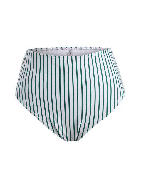 ZAFUL Übergröße Blumen Streifen O Ring Schößchen Tankini Badebekleidung - Grün XL Mobile