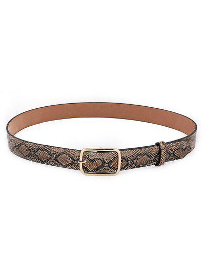 Snakeskin Pattern Pin Buckle Belt - Dark Goldenrod