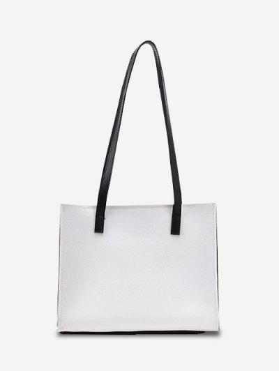 Minimalist Square Shoulder Bag - White