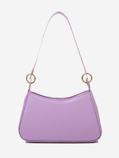Minimalist O Ring Shoulder Bag - Mauve