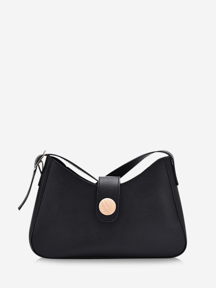 Button Embellished Shoulder Bag