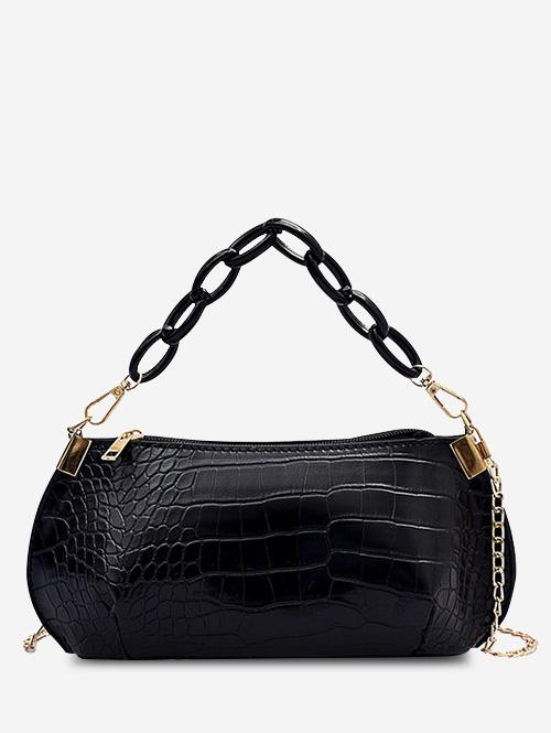 Zaful Textured Chains Handbag