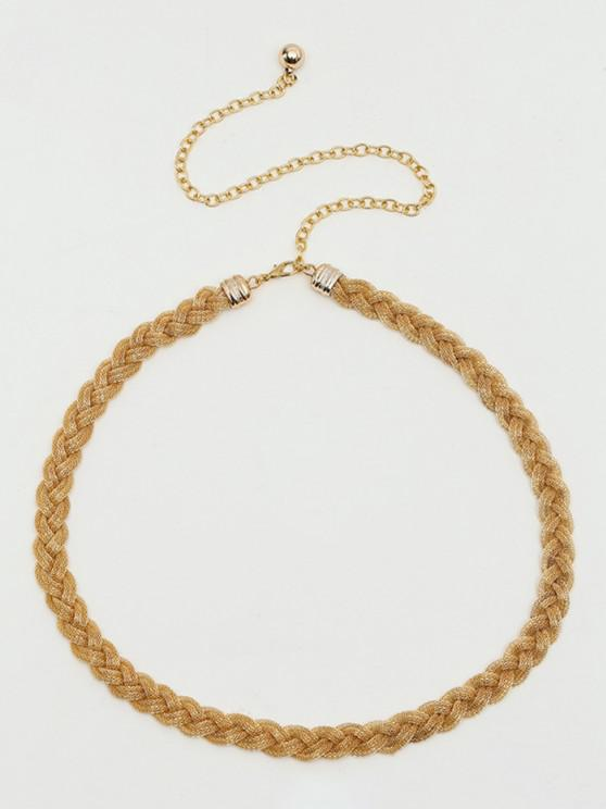 Braided Metal Waist Chain - نحاس