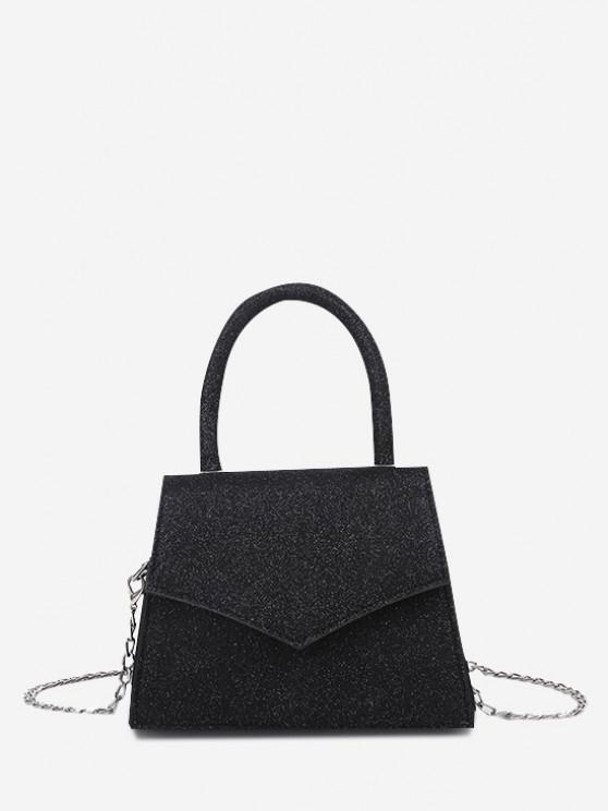Bolsa de Mano con Cadena sobre - Negro