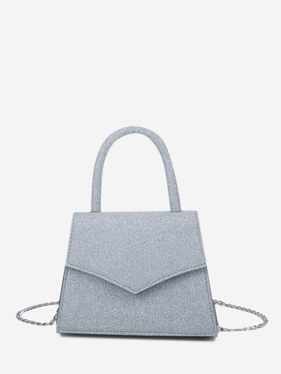 ladies Envelope Cover Chain Handbag - BLUE GRAY