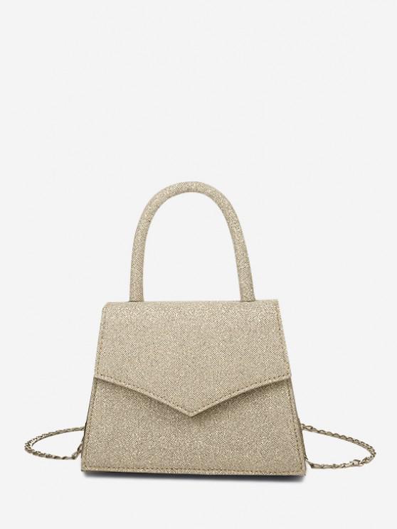 Envelope Cover Chain Handbag - كاكي