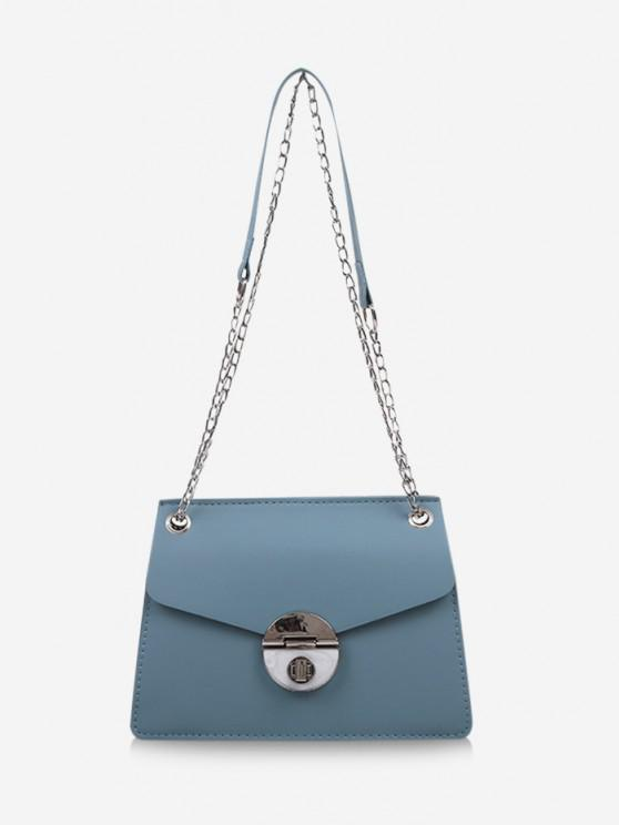 fashion Cover Chain Shoulder Bag - BABY BLUE