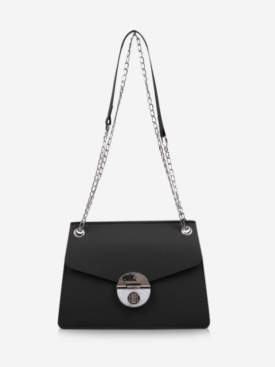 women Cover Chain Shoulder Bag - BLACK