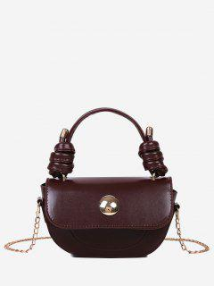 Knotted Chain Saddle Bag - Deep Brown