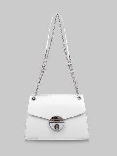 Cover Chain Shoulder Bag - Crystal Cream