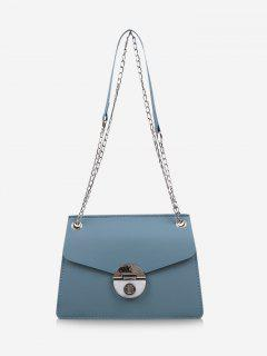 Cover Chain Shoulder Bag - Baby Blue