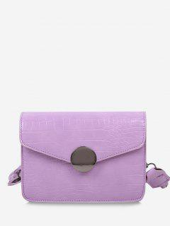 Twist Strap Cover Crossbody Bag - Mauve