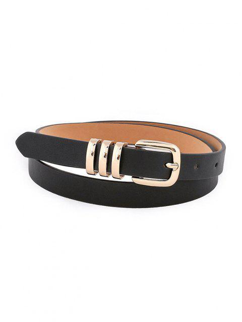Cintura con Fibbia Ad Ardiglione - Nero  Mobile