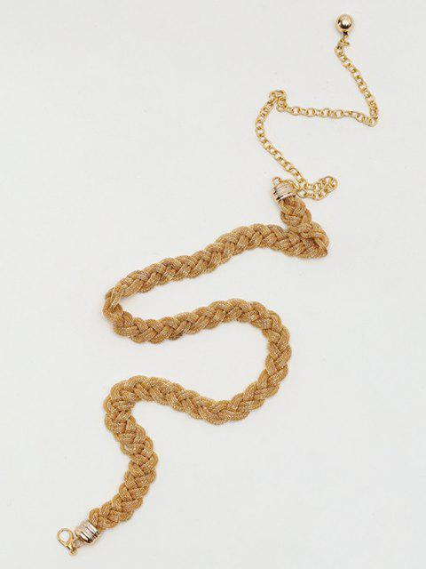 online Braided Metal Waist Chain - COPPER  Mobile