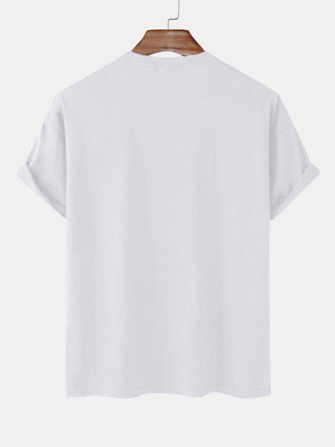 buy Planet Astronaut Cycling Print Basic T-shirt - WHITE L Mobile