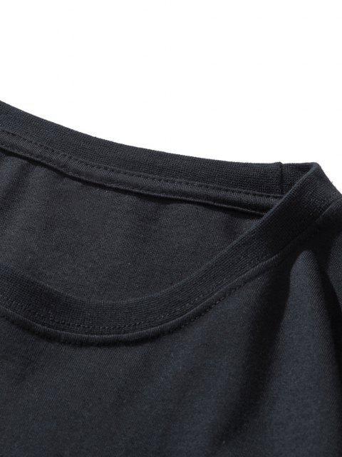 T-Shirt Basic con Maniche Corte - Nero XXL Mobile
