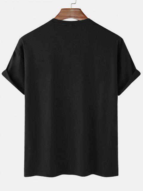 sale Dreamer Short Sleeve Basic T-shirt - BLACK XL Mobile