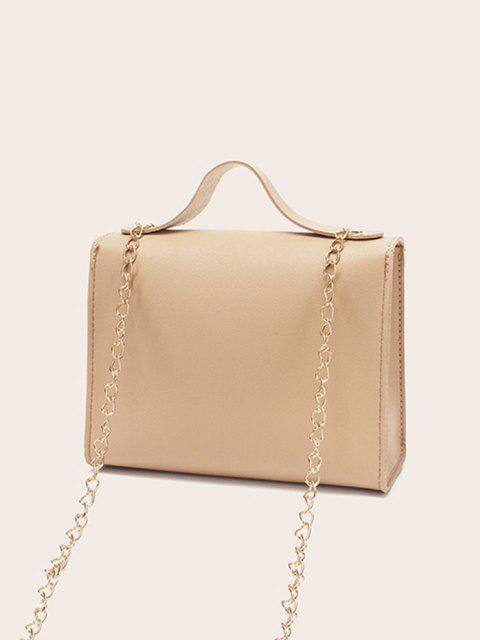 unique Colorblock Heart Shape Hasp Handbag - CAMEL BROWN  Mobile