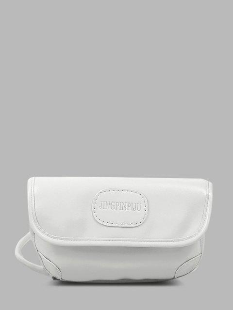 Bolsa Cruzada Relieve Letras - Crema de Cristal  Mobile