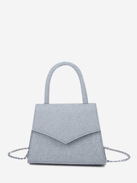 ladies Envelope Cover Chain Handbag - BLUE GRAY  Mobile
