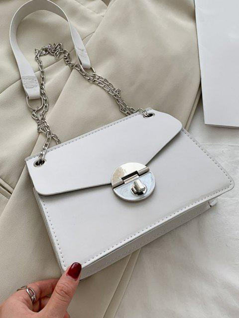 latest Cover Chain Shoulder Bag - CRYSTAL CREAM  Mobile