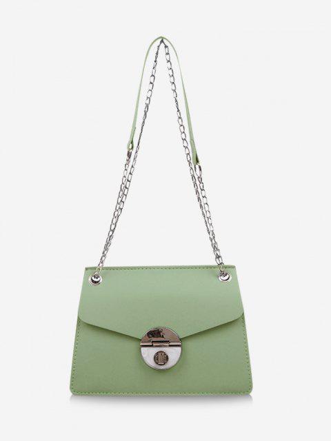 trendy Cover Chain Shoulder Bag - LIGHT GREEN  Mobile