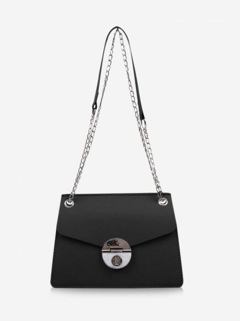 Cover Chain Shoulder Bag - أسود  Mobile