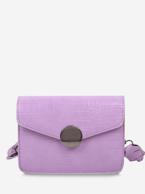 shops Twist Strap Cover Crossbody Bag - MAUVE  Mobile