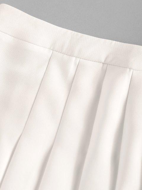 best ZAFUL Pretty Mini Pleated Skirt - WHITE S Mobile