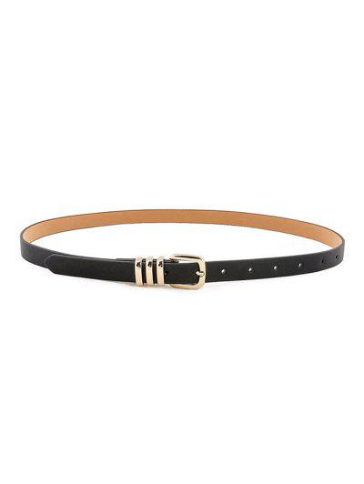 Decorative Pin Buckle Dress Belt - Black