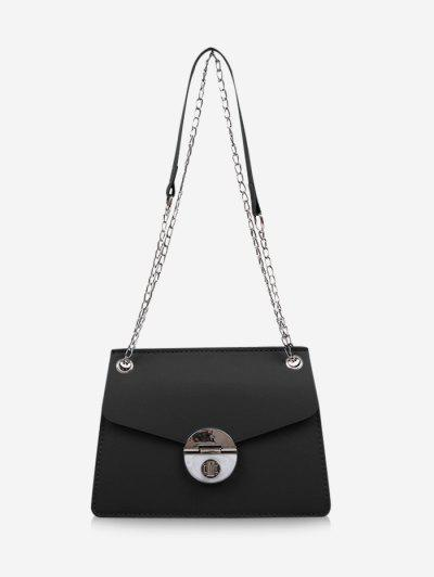 Cover Chain Shoulder Bag - Black