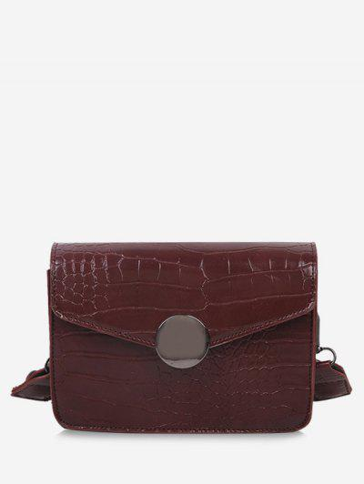 Twist Strap Cover Crossbody Bag - Brown