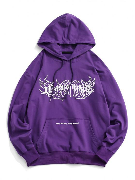 outfit Graphic Kangaroo Pocket Hoodie - CONCORD S