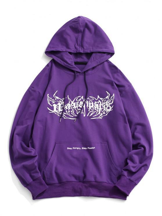 shops Graphic Kangaroo Pocket Hoodie - CONCORD XL