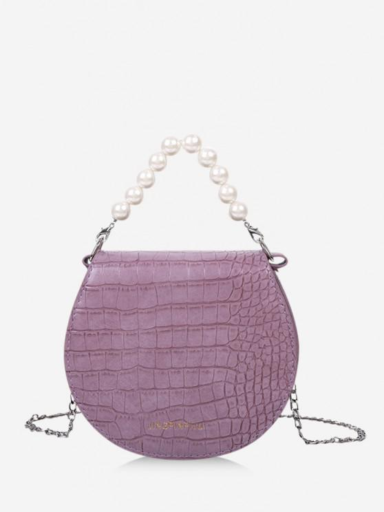 new Faux Pearl Handle Chain Handbag - LILAC