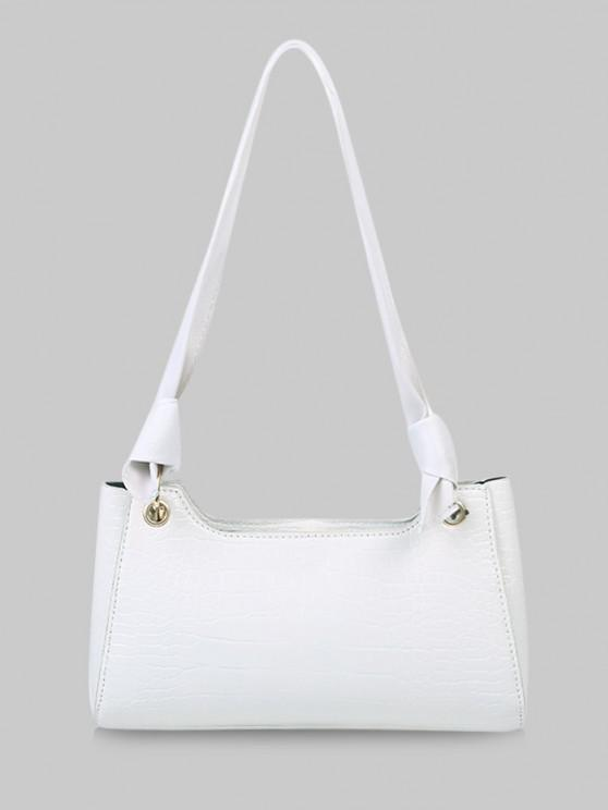 outfits Textured Knotted Shoulder Bag - NATURAL WHITE