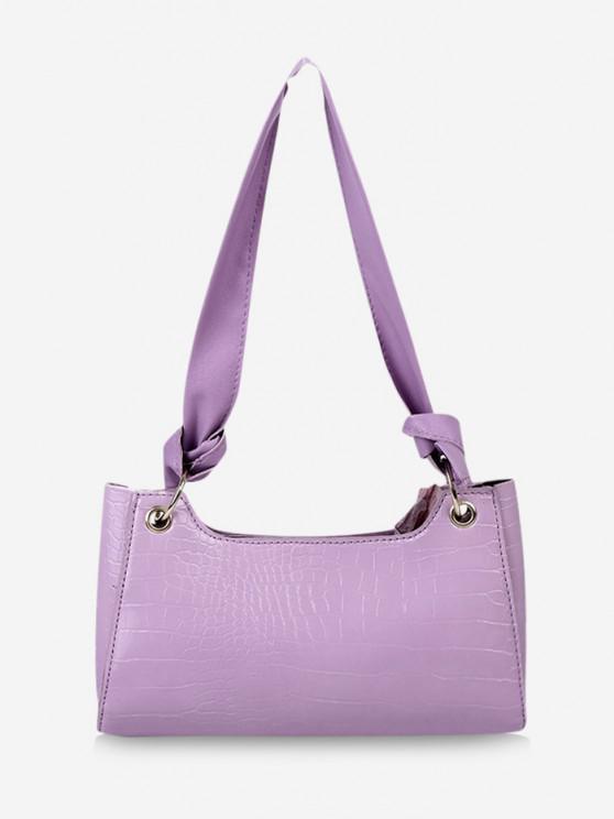 shop Textured Knotted Shoulder Bag - HELIOTROPE PURPLE