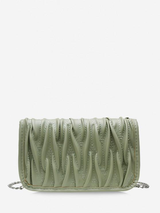 Pleated Chain Crossbody Bag - البحر الاخضر